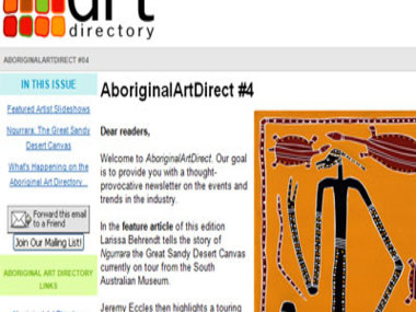 Aboriginal Art Direct #4: Ngurrara The Great Sandy Desert Canvas
