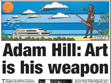 Adam Hill: Art is his weapon
