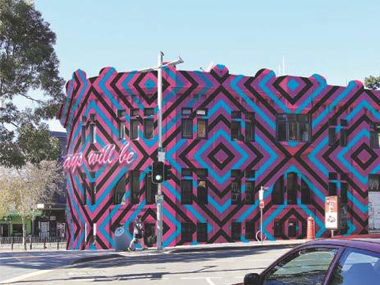 Major Sydney building facade transformed by Aboriginal art