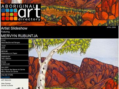 Artist Slideshow featuring Mervyn Rubuntja