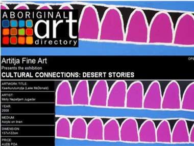 Artitja Fine Art presents Cultural Connections: Desert Stories, Perth Australia