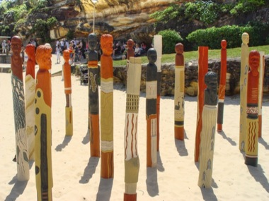 Artwork at Bondi by Ngardarb Francine Riches