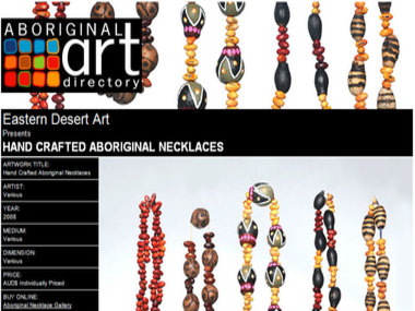 Artwork for Sale: Eastern Desert Art presents Hand Crafted Aboriginal Necklaces