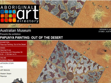 Australian Museum presents Papunya Painting: Out of the Desert