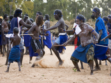 Bunggul dancers at Garma 2008