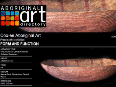Coo-ee Aboriginal Art presents Form and Function, Bondi Beach Australia