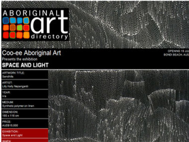 Coo-ee Aboriginal Art presents Space and Light, Bondi Beach Australia