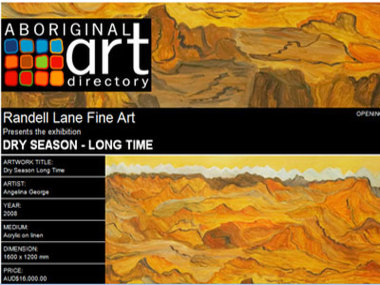 Exhibition 17 October 08: Randell Lane Fine Art Gallery presents Dry Season - Long Time, Perth Australia