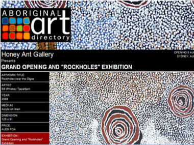 Honey Ant Gallery presents their Gallery Opening and Rockholes Exhibition, Sydney Australia