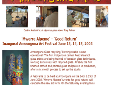 Inaugural Amoonguna Art Festival June 13, 14, 15, 2008