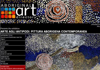 Isarte presents Arte Agli Antipodi: pittura aborigena contemporanea, Milan Italy