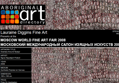 Lauraine Diggins Fine Art presents at the Moscow World Fine Art Fair 2008, Moscow Russia