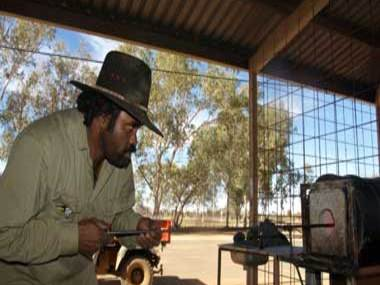 News from Amoonguna Art Center Glass Studio Central Australia's 1st Indigenous glass blower Tony Palmer