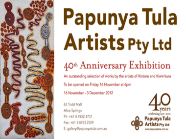 PAPUNYA TULA CELEBRATES ITS 40TH