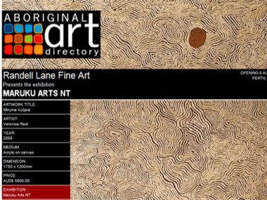 Randell Lane Fine Art Gallery presents Maruku Arts NT, Perth Australia