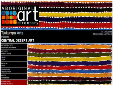 Tjukurrpa Arts presents Central Desert Art, Melbourne Australia